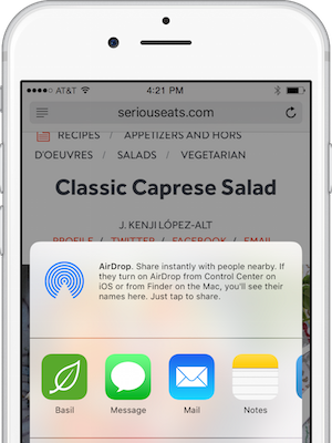 Basil for ios from any app and since we love all those great recipe blogs basil makes it easy to save from everywhere else too forumfinder Gallery